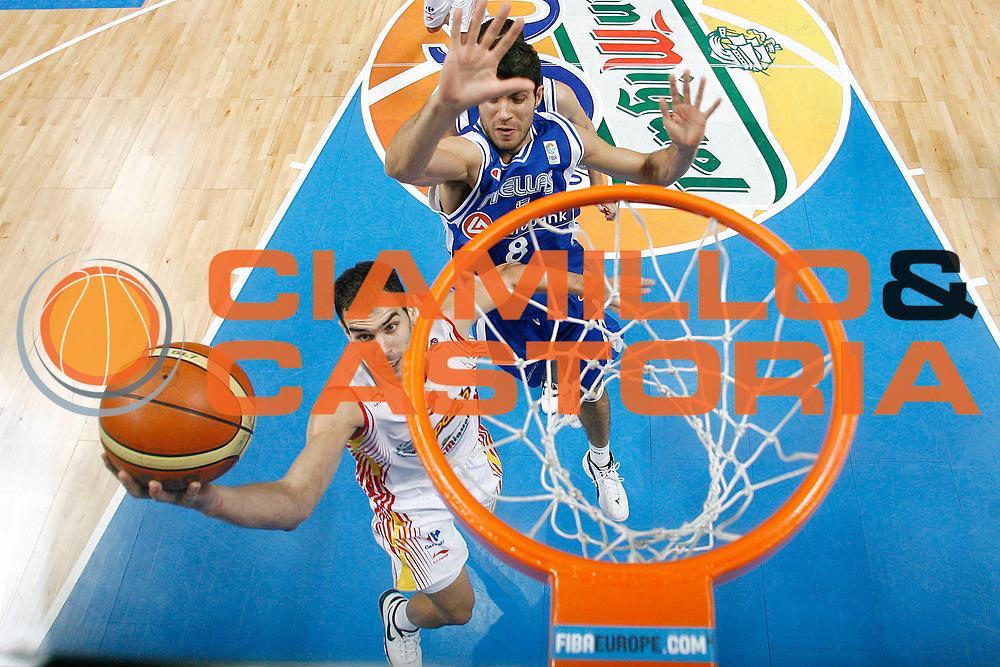 DESCRIZIONE : Madrid Spagna Spain Eurobasket Men 2007 Semi Finals Semifinali Spagna Grecia Spain Greece <br /> GIOCATORE : Jose Calderon<br /> SQUADRA : Spagna Spain<br /> EVENTO : Eurobasket Men 2007 Campionati Europei Uomini 2007 <br /> GARA : Spagna Grecia Spain Greece<br /> DATA : 15/09/2007 <br /> CATEGORIA : Special<br /> SPORT : Pallacanestro <br /> AUTORE : Ciamillo&amp;Castoria/S.Silvestri<br /> Galleria : Eurobasket Men 2007 <br /> Fotonotizia : Madrid Spagna Spain Eurobasket Men 2007 Semi Finals Semifinali Spagna Grecia Spain Greece  <br /> Predefinita :