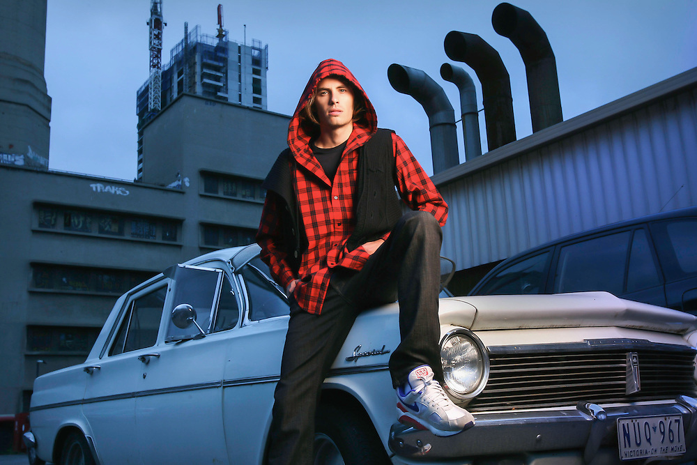 Peter modelling bogan high fashion  Pic By Craig Sillitoe SPECIALX 000 This photograph can be used for non commercial uses with attribution. Credit: Craig Sillitoe Photography / http://www.csillitoe.com<br /> <br /> It is protected under the Creative Commons Attribution-NonCommercial-ShareAlike 4.0 International License. To view a copy of this license, visit http://creativecommons.org/licenses/by-nc-sa/4.0/.