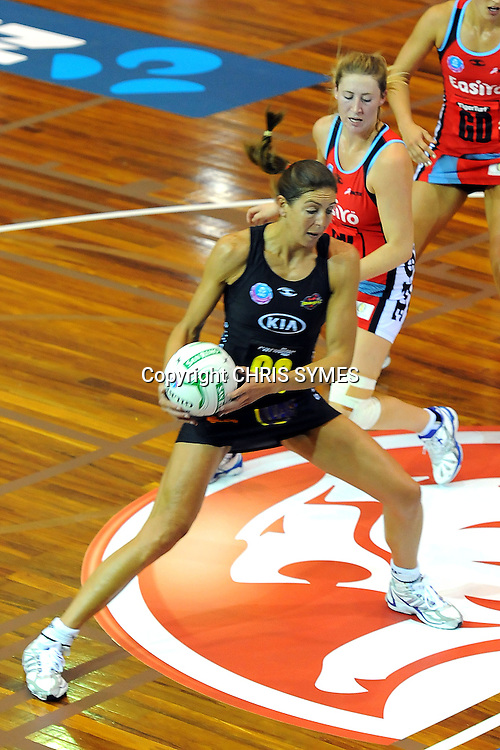 Magic's Irene van Dyk in action during the ANZ Netball Championship, Waikato/Bay of Plenty Magic v Canterbury Tactix. Trafalgar Centre, Nelson, New Zealand. Sunday 24 March 2013. Photo: Chris Symes/www.photosport.co.nz