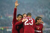Roma 30/11/2003 <br />Roma Lecce 3-1<br />John CAREW celebrated by Francesco Totti. Carew made assist for Totti's goal of 3-0 for AS Roma<br />Foto Andrea Staccioli Graffiti