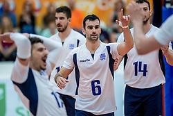 23-05-2017 NED: 2018 FIVB Volleyball World Championship qualification, Koog aan de Zaan<br /> Moldavi&euml; - Griekenland / Konstantinos Stivachtis #6