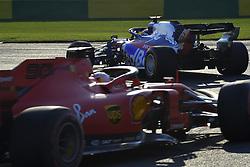 March 16, 2019 - Melbourne, Australia - Motorsports: FIA Formula One World Championship 2019, Grand Prix of Australia, ..#26 Daniil Kvyat (RUS, Red Bull Toro Rosso Honda), #5 Sebastian Vettel (GER, Scuderia Ferrari Mission Winnow) (Credit Image: © Hoch Zwei via ZUMA Wire)