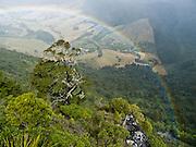 Rainbow over Takaka Hill, South Island, New Zealand