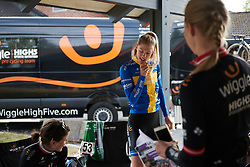 Emilia Fahlin (SWE) relives her time in an Abba tribute band at Ladies Tour of Norway 2018 Stage 3. A 154 km road race from Svinesund to Halden, Norway on August 19, 2018. Photo by Sean Robinson/velofocus.com