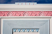 Art Deco detailing on The Webster Hotel in Miami Beach, designed by architect Henry Hoahauser in 1936.