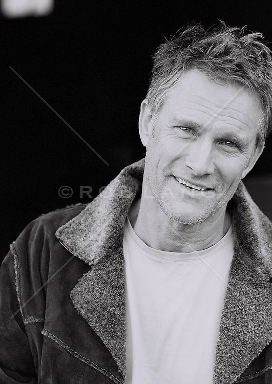 Portrait of a good looking  middle aged man
