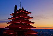 Pagoda at Sunset, Reading, PA