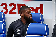 Olivier Ntcham of Celtic FC on the bench for the Ladbrokes Scottish Premiership match between Rangers and Celtic at Ibrox, Glasgow, Scotland on 1 September 2019.