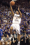 Kansas State guard Lance Harris drives in for the basket against Kansas, during the second half at Bramlage Coliseum in Manhattan, Kansas, March 4, 2006.  The Jayhawks won 66-52.