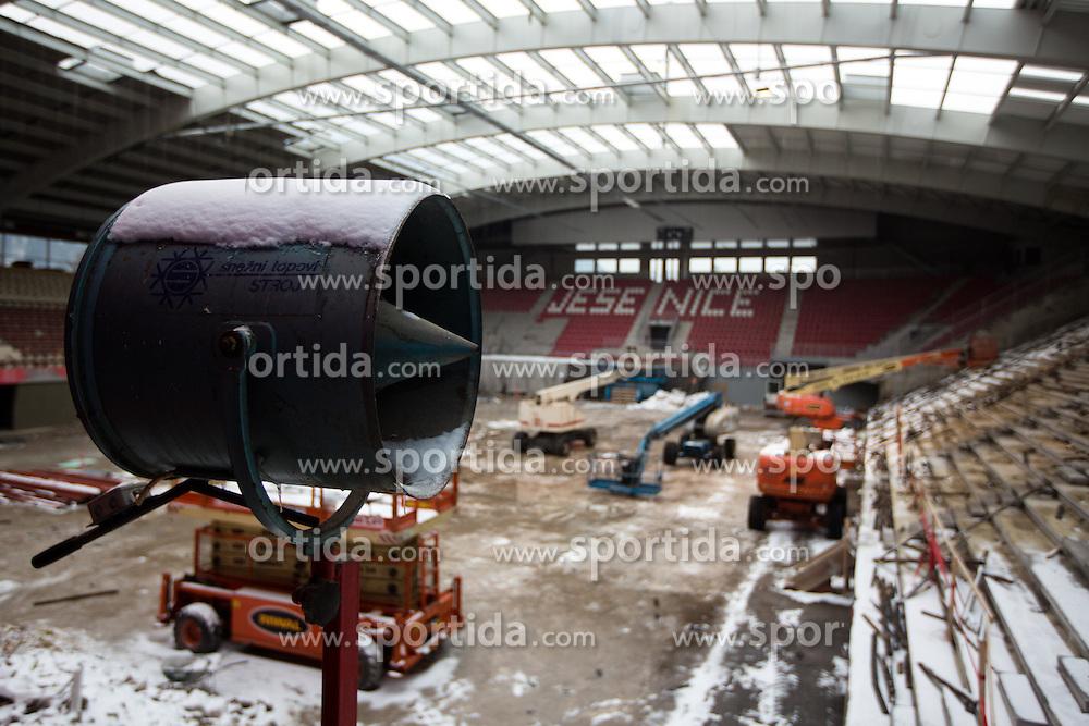 Reconstruction of Arena Podmezakla in Jesenice few months before FIBA EuroBasket 2013 at Podmezalka Hall, on March 27, 2013, in Jesenice, Slovenia. (Photo by Matic Klansek Velej / Sportida)