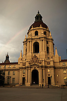 Rainbow Over Pasadena City Hall, California