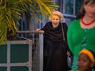 Princess Beatrix as patroness of Jantje Beton attended the kickoff of National School Breakfast in the Hortus Botanicus in Leiden. LEIDEN - Prinses Beatrix is als beschermvrouwe van Jantje Beton aanwezig bij de aftrap van Het Nationaal Schoolontbijt in de Hortus botanicus in Leiden. COPYRIGHT ROBIN UTRECHT