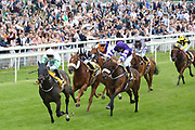 ABOVE THE REST (1) ridden by jockey Ben Curtis and trained by David Barron winning The JCB Handicap Stakes over 7f (£40,000) during the Macmillan Charity Raceday at York Racecourse, York, United Kingdom on 16 June 2018. Picture by Mick Atkins.
