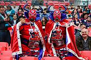 Houston Texans fans during the International Series match between Jacksonville Jaguars and Houston Texans at Wembley Stadium, London, England on 3 November 2019.