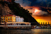 """The sunset breaking through the rain clouds over Marina Grande Sorrento""…<br />