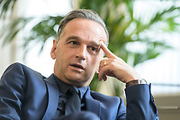 24 JUL 2020, BERLIN/GERMANY:<br /> Heiko Maas, SPD, Bundesaussenminister, waehrend einem Interview, in seinem Buero, Auswaertiges Amt<br /> IMAGE: 20200724-01-042<br /> KEYWORDS: Buero