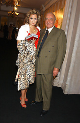 MOHAMED AL FAYED and his daughter JASMINE at a party to celebrate 'Made in Italy at Harrods' - a celebration of Italian fashion food and wine, design and interiors, art and photography, cinema and music, beauty and glamour.  The party was held in the Georgian Restaurant at Harrods, Knightsbridge, London on 9th September 2004.<br /><br />PICTURES LICENCED UNTIL 9/3/2004 FOR USE TO PROMOTE THE 'MADE IN ITALY' EVENT/S ONLY.