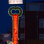 Hosse and Hosse neon sign located on Woodland Street Nashville Tennessee