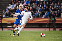 September 2, 2017 - Tampere, Finland - Finland's Perparim Hetemaj and Iceland's Hordur Magnússon fight for the ball during the FIFA World Cup 2018 Group I football qualification match between Finland and Iceland in Tampere, Finland, on September 2, 2017. (Credit Image: © Antti Yrjonen/NurPhoto via ZUMA Press)