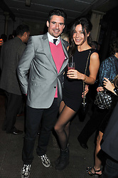 EDWARD TAYLOR and PORTIA ALEN-BUCKLEY at a party to celebrate the launch of the new Vertu Constellation phone - the luxury phonemakers first touchscreen handset, held at the Farmiloe Building, St.John Street, Clarkenwell, London on 24th November 2011.