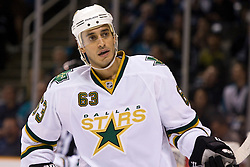 March 25, 2010; San Jose, CA, USA;  Dallas Stars center Mike Ribeiro (63) during the first period against the San Jose Sharks at HP Pavilion. San Jose defeated Dallas 3-0. Mandatory Credit: Jason O. Watson / US PRESSWIRE