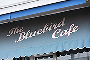 Exterior of the historic Bluebird Cafe music venue in Nashville, TN.