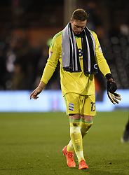 Birmingham City goalkeeper David Stockdale at full time