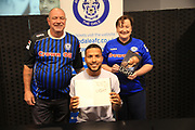 Joe Thompson Signing with supporters  during the Joe Thompson's Allstars v Joe Thompson's Celebrity 11 in Rochdale at the Crown Oil Arena, Rochdale, England on 21 July 2019.
