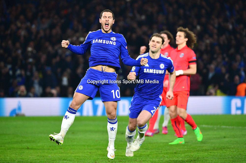 Joie Eden HAZARD - 11.03.2015 - Chelsea / Paris Saint Germain - 1/8Finale retour Champions League<br /> Photo : Dave Winter / Icon Sport
