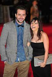 © Licensed to London News Pictures. 24/01/2012. London, England. Darren McMullen and Roxanne Pallett attends the world premiere of The Woman in Black , Hammer Films new horror movie at The Royal Festival hall  London  Photo credit : ALAN ROXBOROUGH/LNP