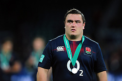 Jamie George of England looks on after the match - Mandatory byline: Patrick Khachfe/JMP - 07966 386802 - 19/11/2016 - RUGBY UNION - Twickenham Stadium - London, England - England v Fiji - Old Mutual Wealth Series.
