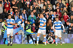 QPR's Matt Smith (centre) celebrates scoring his side's second goal of the game during the Sky Bet Championship match at Loftus Road, London.