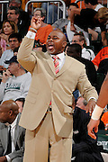 March 7, 2009: Head coach Sidney Lowe of the North Carolina State Wolfpack in action during the NCAA basketball game between the Miami Hurricanes and the North Carolina State Wolfpack. The 'Canes defeated the Wolfpack 72-64.