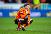 Nicky Clark (#10) of Dundee United FC at the final whistle of the William Hill Scottish Cup quarter final match between Dundee United and Inverness CT at Tannadice Park, Dundee, Scotland on 3 March 2019.