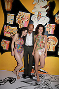 ALISON KANE; ALAN ALDRIDGE;  RACHEL HAYTON, Exhibition opening ' Alan Aldridge- The Man With Kaleidoscope Eyes' hosted by his daughter Saffron Aldridge. Design Museum. Shad Thames. London  SE1. *** Local Caption *** -DO NOT ARCHIVE -Copyright Photograph by Dafydd Jones. 248 Clapham Rd. London SW9 0PZ. Tel 0207 820 0771. www.dafjones.com