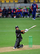 Ross Taylor scores the winning run for the Black Caps as the England bench looks on.<br /> One-day International Cricket Match. New Zealand v England. Westpac Stadium, Wellington, New Zealand. Saturday 9 January 2008. Photo: Dave Lintott/PHOTOSPORT