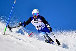 MISAWA Hiraku, LW2, JPN, Slalom at the WPAS_2019 Alpine Skiing World Cup, La Molina, Spain