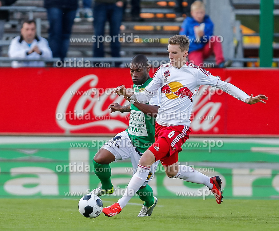 22.04.2014, Reichshofstadion, Lustenau, AUT, 2. FBL, SC Austria Lustenau vs FC Liefering, 30. Runde, im Bild Jailson Severiano Alves, (SC Austria Lustenau #07) und Philipp Wiesinger, (FC Liefering, #06) during Austrian Second Bundesliga Football Match, 30th round, between SC Austria Lustenau vs FC Liefering the Reichshofstadion, Lustenau, Austria on 2014/04/22. EXPA Pictures © 2014, PhotoCredit: EXPA/ Peter Rinderer