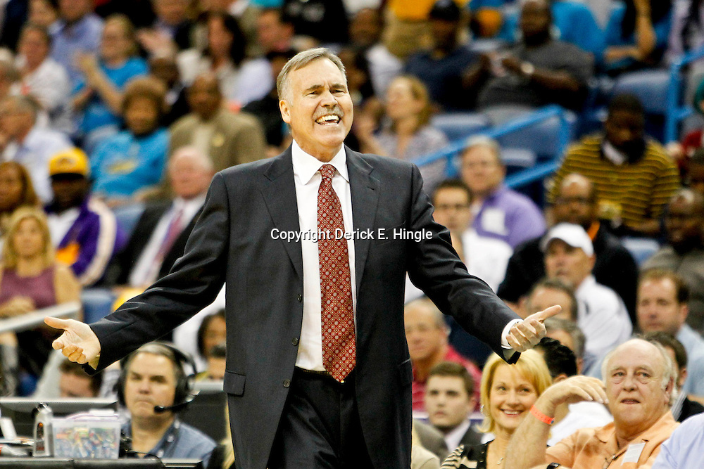 Dec 5, 2012; New Orleans, LA, USA; Los Angeles Lakers head coach Mike D'Antoni against the New Orleans Hornets during the first half of a game at the New Orleans Arena.  Mandatory Credit: Derick E. Hingle-USA TODAY Sports