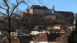CZECH REPUBLIC BRNO 6JAN15 - Spilberk castle on the hilltop in Brno. Brno is the second largest city in the Czech Republic by population and area and has about 400,000 inhabitants.<br /> <br /> <br /> <br /> <br /> jre/Photo by Jiri Rezac<br /> <br /> <br /> <br /> © Jiri Rezac 2015