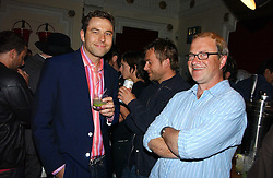 Left to right, DAVID WALLIAMS, DAMON ALBARN and HARRY ENFIELD  at the Grand Classics screening of Brighton Rock hosted by Paul Simonon at The Electric Cinema, Portobello Road, London W11 on 5th June 2006.<br />