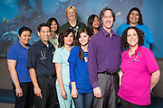 The South East Bay Pediatrics Medical Group team poses for a portrait at South East Bay Pediatrics Medical Group in Fremont, California, on April 18, 2014. (Stan Olszewski/SOSKIphoto)