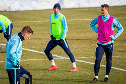 Training of Slovenian National Football team before friendly matches with Austria and Belarus, on March 21, 2018 in National Football Centre Brdo pri Kranju, Kranj, Slovenia. Photo by Ziga Zupan / Sportida