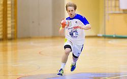 Stas Skube of Slovenia during friendly handball match between National Teams of Slovenia and F.Y.R. of Macedonia on December 28, 2013 in Sports hall Polaj, Trbovlje, Slovenia. Photo by Vid Ponikvar / Sportida