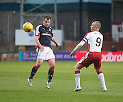 Dundee's Paul McGowan and Rangers' Kenny Miller  - Dundee v Rangers in the Ladbrokes Scottish Premiership at Dens Park, Dundee.Photo: David Young<br /> <br />  - © David Young - www.davidyoungphoto.co.uk - email: davidyoungphoto@gmail.com