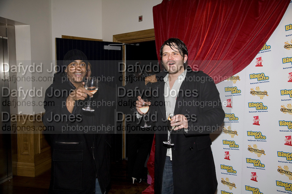 BRADLEY MCINTOSH AND PAUL CUTTERMOLE FROM S CLUB 7, Bingo Lotto launch party. Soho Hotel Richmond Mews. London. 29 February 2008.  *** Local Caption *** -DO NOT ARCHIVE-© Copyright Photograph by Dafydd Jones. 248 Clapham Rd. London SW9 0PZ. Tel 0207 820 0771. www.dafjones.com.