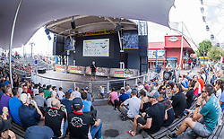Riders at the briefing during the pre race events held at the V&A Waterfront in Cape Town prior to the start of the 2017 Absa Cape Epic Mountain Bike stage race held in the Western Cape, South Africa between the 19th March and the 26th March 2017<br /> <br /> Photo by Dominic Barnardt/Cape Epic/SPORTZPICS<br /> <br /> PLEASE ENSURE THE APPROPRIATE CREDIT IS GIVEN TO THE PHOTOGRAPHER AND SPORTZPICS ALONG WITH THE ABSA CAPE EPIC<br /> <br /> ace2016