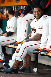 SAN FRANCISCO, CA - MAY 27:  Pablo Sandoval #48 of the San Francisco Giants changes cowboy boots for baseball cleats in the dugout during the first inning against the Chicago Cubs at AT&T Park on May 27, 2014 in San Francisco, California.  The San Francisco Giants defeated the Chicago Cubs 4-0.  (Photo by Jason O. Watson/Getty Images) *** Local Caption *** Pablo Sandoval