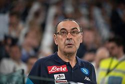 April 22, 2018 - Turin, Piedmont/Turin, Italy - Maurizio Sarri durig the Serie A match Juventus FC vs Napoli. Napoli won 0-1 at Allianz Stadium, in Turin, Italy 22nd april 2018 (Credit Image: © Alberto Gandolfo/Pacific Press via ZUMA Wire)