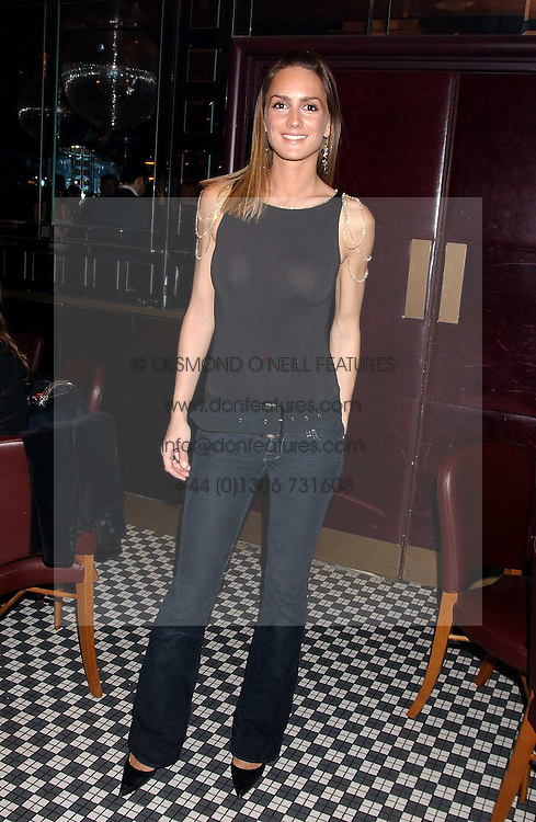 SHELLEY ROSS at a party to launch the Frankie's TLC Card and the TLC Clubcard held at Frankie's Knightsbridge, 3 Yeomans Row, London SW3 on 1st February 2006.<br /><br />NON EXCLUSIVE - WORLD RIGHTS